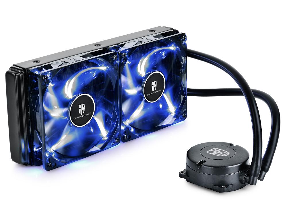 Водяное охлаждение DeepCool Maelstrom 240T Blue (Intel LGA2011-V3/LGA2011/LGA1366/LGA1156/LGA1155/LGA1151/LGA1150/AMD FM2+/FM2/FM1/AM3+/AM3/AM2+/AM2)