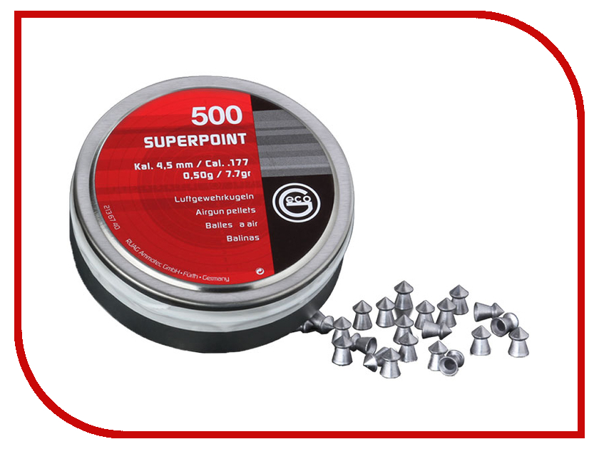 Аксессуар Пули Geco Super Point 4.5mm 500шт RWSSPEx<br>