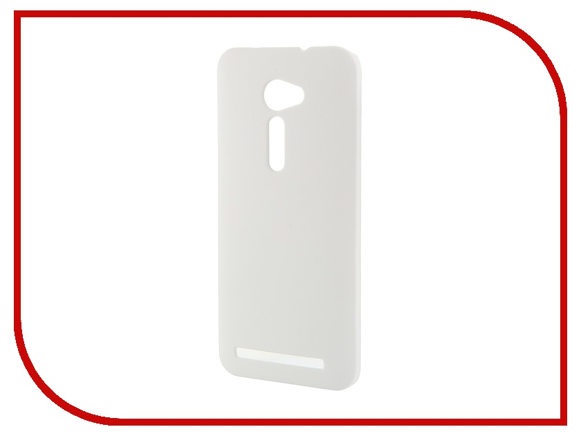 Аксессуар Чехол-накладка для ASUS ZenFone 2 ZE500CL Pulsar Clipcase PC Soft-Touch White PCC0037
