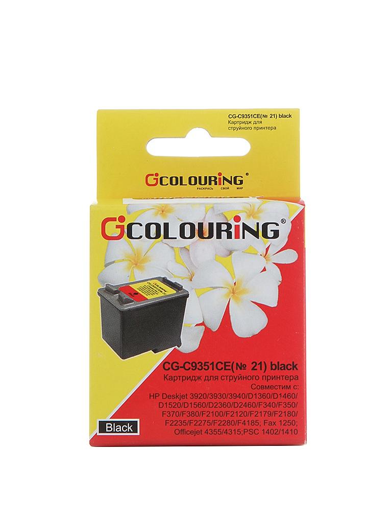 Аксессуар Colouring CG-C9351CE №21 Black для HP DJ 3920/3940/PSC1410