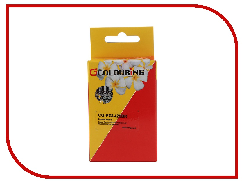 Картридж Colouring CG-PGI-425BK Black для Canon IP4840/MG5140/MG5240/MG6140/MG8140 картридж colouring cg cli 521bk black для canon ip3600 ip4600 mp540 mp620 mp630 mp980