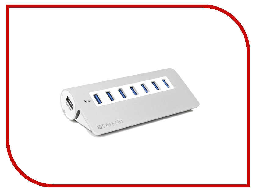 Satechi 7-Port USB 3.0 Premium Aluminum Hub White Trim B00CIY0KUG<br>