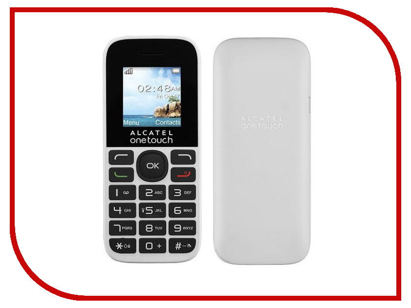 Сотовый телефон Alcatel OneTouch 1016D Pure White