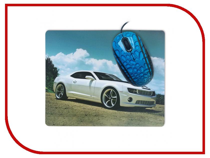 Мышь проводная CBR Sport Car USB + коврик<br>