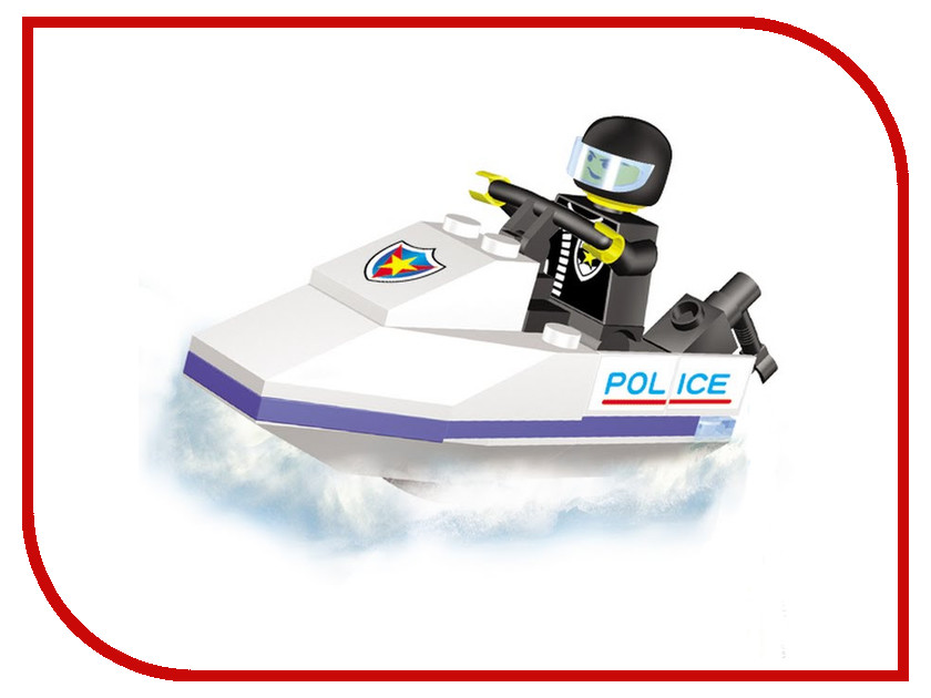 Игрушка Конструктор SuperBlock Police Катер XS MF003518