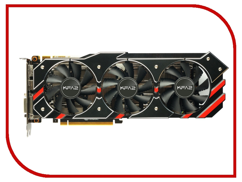 Видеокарта KFA2 GeForce GTX 980 Ti OC 1114Mhz PCI-E 3.0 6144Mb 7010Mhz 384 bit DVI HDMI HDCP GTX980Ti OC 119625 / 7119625