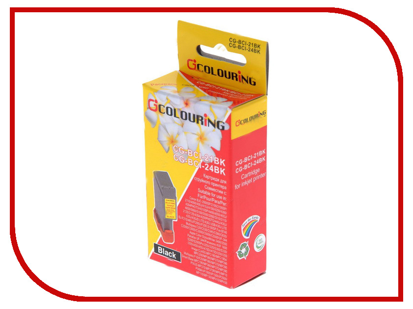 Картридж Colouring CG-BCI-21&BCI-24 Black для Canon BJC 4000/S200/S300 картридж струйный lomond canon bci 3ey для canon bc 31 bc 33 s600 yellow
