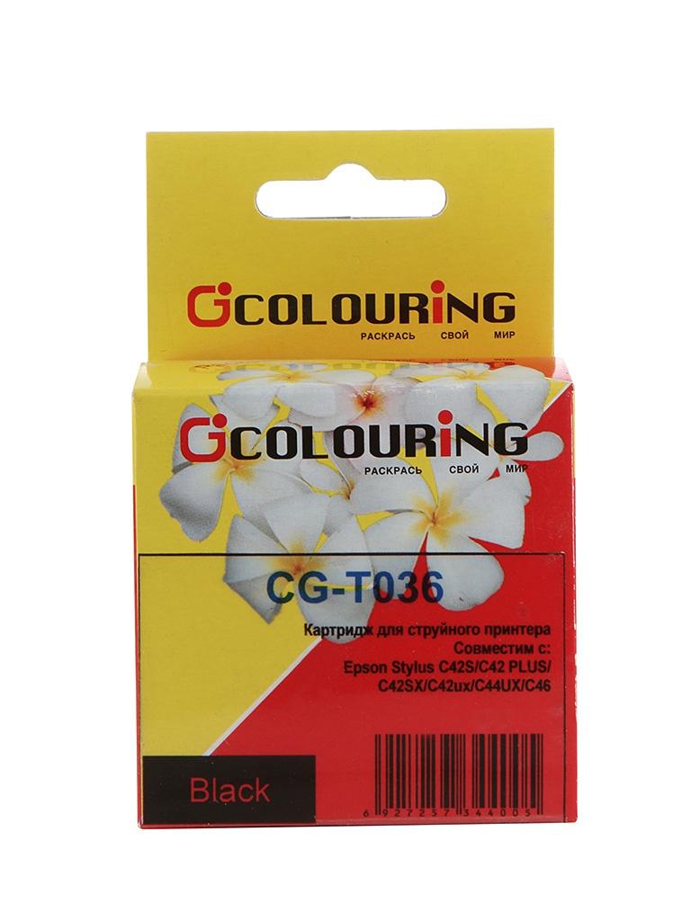 Картридж Colouring CG-T036 Black для Epson Stylus C42<br>