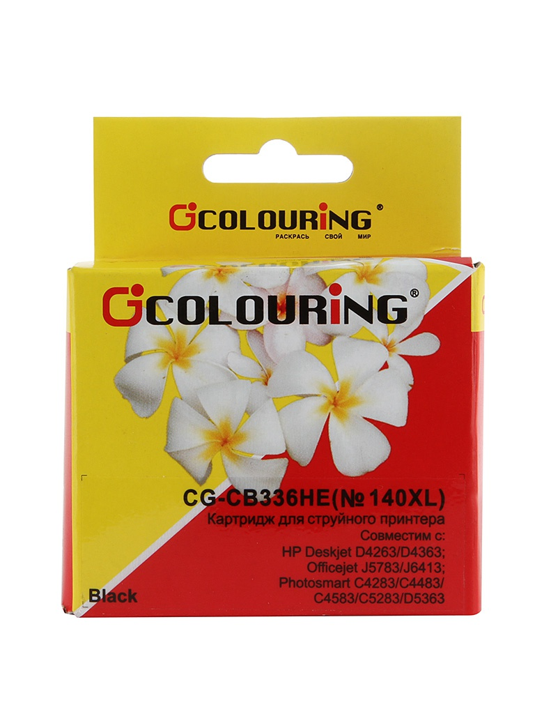 Аксессуар Colouring CG-CB336HE №140XL Black для HP DJ D4263/PhsmC4283/C5283/D5363/OfficeJet J5783