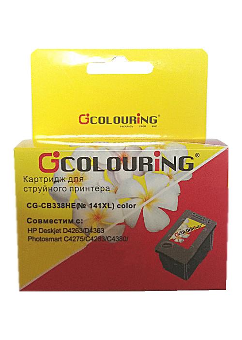 Аксессуар Colouring CG-CB338HE №141XL Color для HP DJ D4263/PhsmC4283/C5283/D5363/OfficeJet J5783