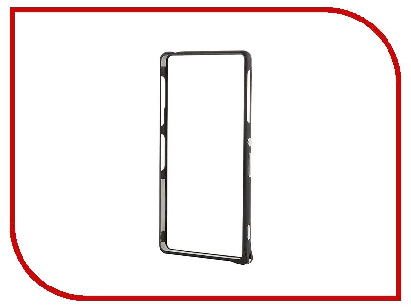 ��������� �����-������ Sony Xperia Z3 BROSCO Aluminum Black Z3-BUMPER-03-BLACK