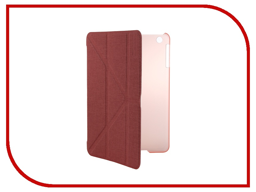 Аксессуар Чехол MOMAX Flip Cover Wise & Clear Touch для iPad mini Pink
