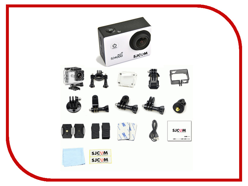 Экшн-камера SJCAM SJ4000 Wi-Fi White sjcam sj5000 plus black экшн камера