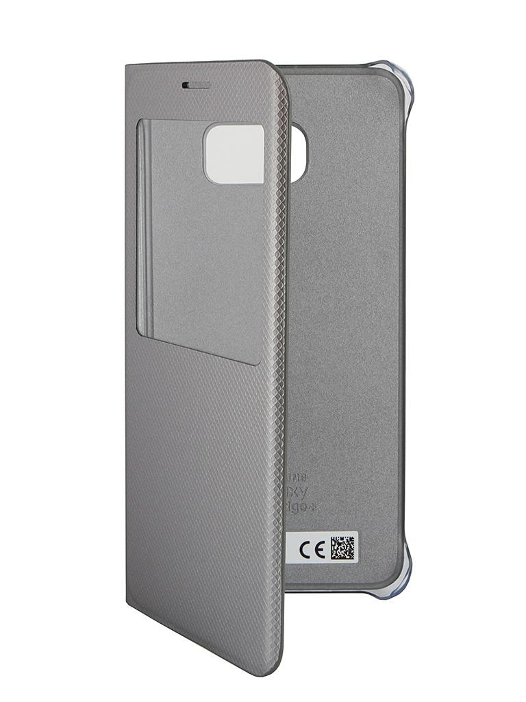 Аксессуар Чехол Samsung SM-G928 Galaxy S6 Edge+ S-View Silver SAM-EF-CG928PSEGRU<br>