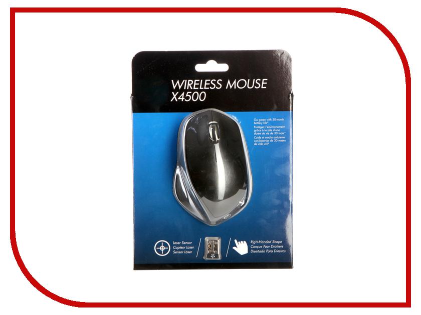 Мышь HP X4500 Black H2W26AA hewlett packard hp c2500 проводной черная мышь