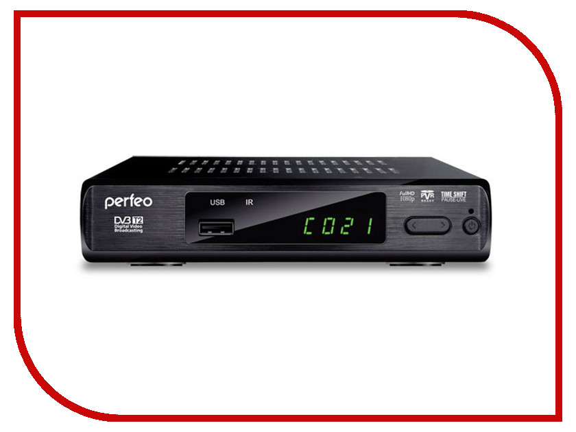 Тюнер Perfeo DVB-T2 PF-168-3 OUT<br>