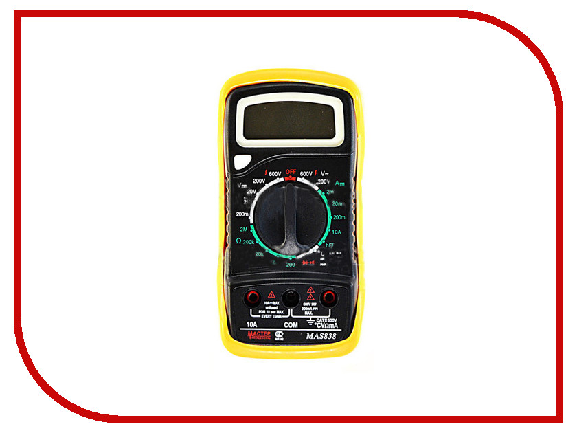 Мультиметр Мастер Professional MAS838  мультиметр фаzа mas838