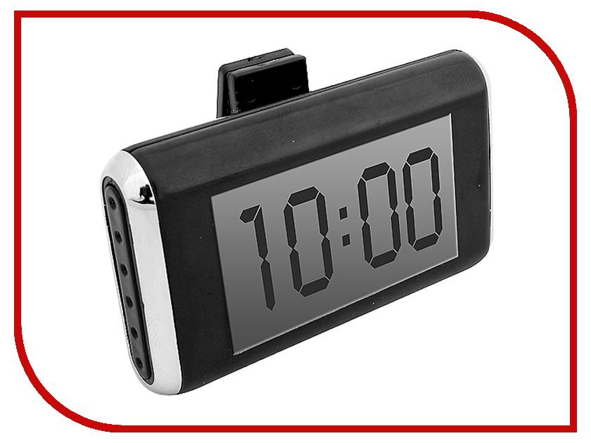 Аксессуар AutoStandart 104027 Black - Часы-термометр<br>