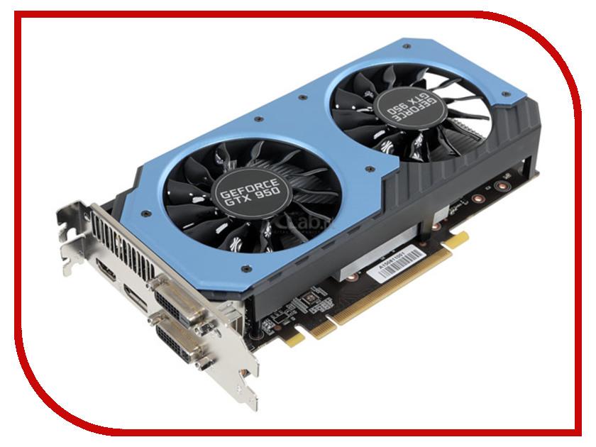 Видеокарта Palit GeForce GTX 950 1064Mhz PCI-E 3.0 2048Mb 6610Mhz 128 bit 2xDVI HDMI HDCP NE5X950S1041-2063F<br>
