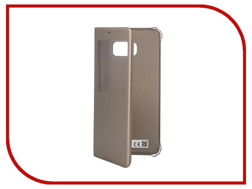 Аксессуар Чехол Samsung SM-G928 Galaxy S6 Edge+ S-View Gold EF-CG928PFEGRU<br>
