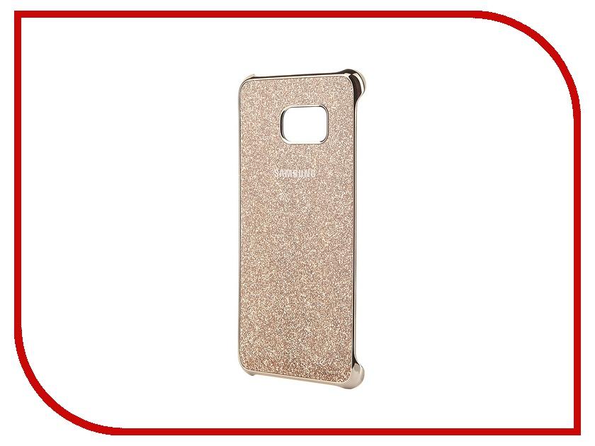 Аксессуар Чехол-накладка Samsung SM-G928 Galaxy S6 Edge+ Gold Glitter Cover EF-XG928CFEGRU аксессуар чехол накладка samsung sm g925 galaxy s6 edge protective cover mint ef yg925bmegru