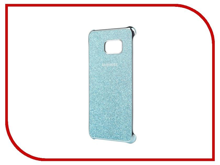 Аксессуар Чехол-накладка Samsung SM-G928 Galaxy S6 Edge+ Blue Glitter Cover EF-XG928CLEGRU<br>