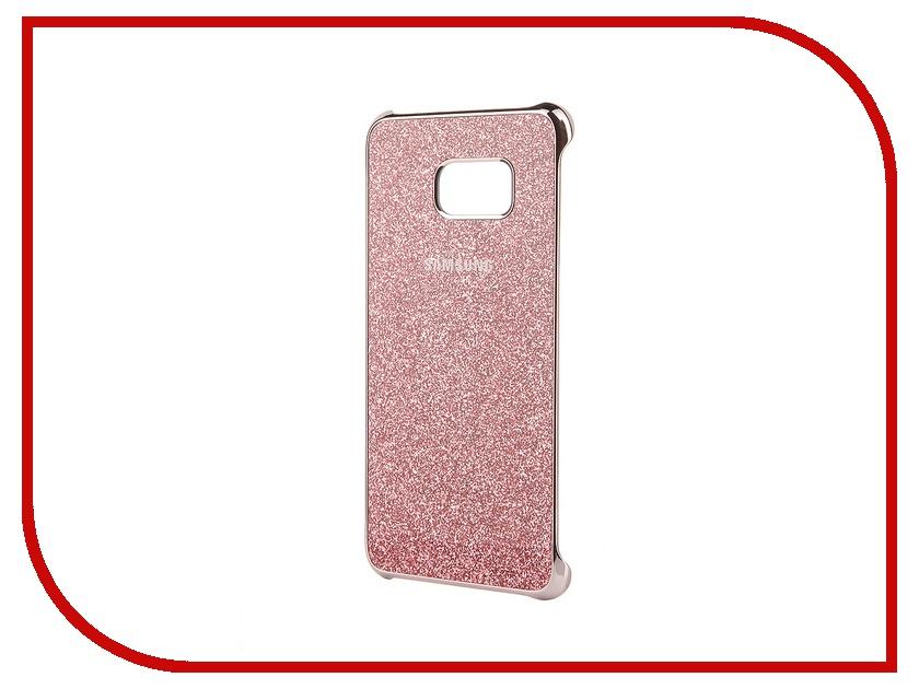 Аксессуар Чехол-накладка Samsung SM-G928 Galaxy S6 Edge+ Pink Glitter Cover EF-XG928CPEGRU аксессуар чехол накладка samsung sm g925 galaxy s6 edge protective cover mint ef yg925bmegru