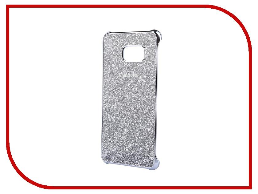 Аксессуар Чехол-накладка Samsung SM-G928 Galaxy S6 Edge+ Silver Glitter Cover EF-XG928CSEGRU аксессуар чехол накладка samsung sm g925 galaxy s6 edge protective cover mint ef yg925bmegru
