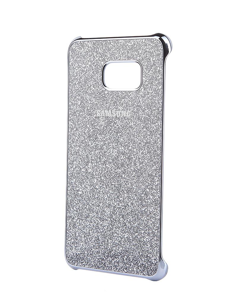 Аксессуар Чехол-накладка Samsung SM-G928 Galaxy S6 Edge+ Silver Glitter Cover EF-XG928CSEGRU<br>