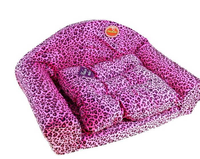 Диван Пижон Люблю тебя Pink Leopard 136139<br>