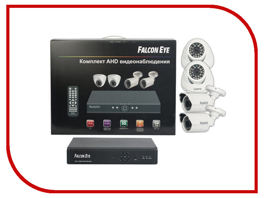 Видеонаблюдение Falcon Eye FE-104AHD-KIT Офис fe commpact kit датчики