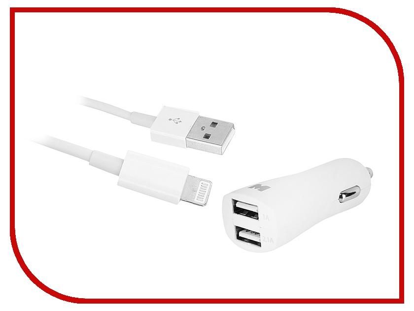 �������� ���������� Maverick 2xUSB Lightning/Apple iPhone 5/5S/5C/6/6 Plus/6S/iPad Air/Mini White 1074