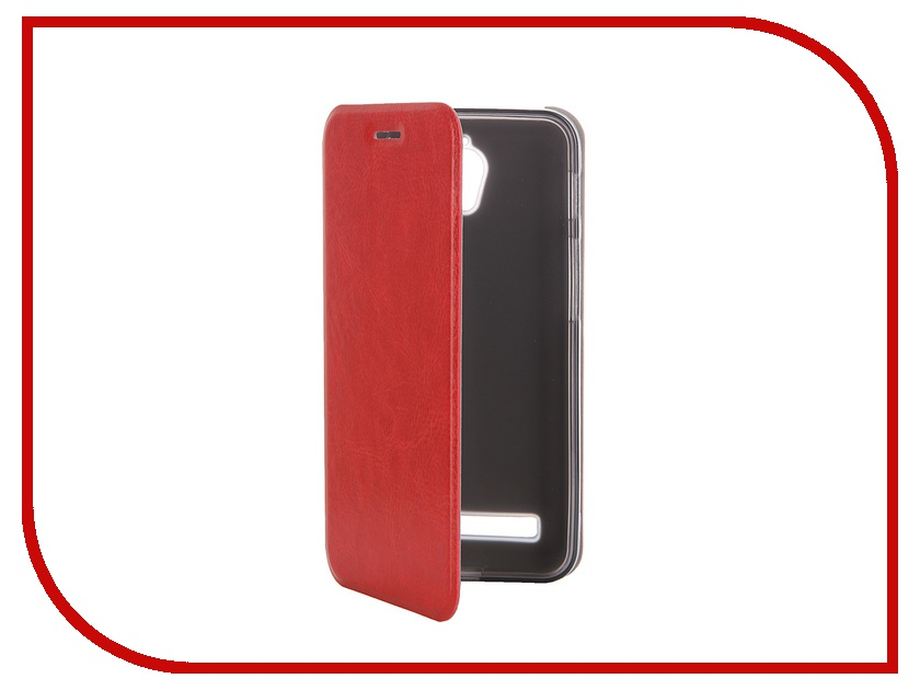 ��������� ����� ASUS ZenFone C ZC451CG SkinBox Lux Red T-S-AZC-003
