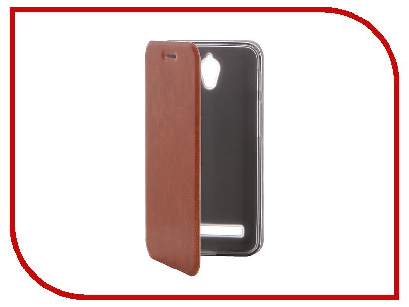 Аксессуар Чехол ASUS ZenFone C ZC451CG SkinBox Lux Brown T-S-AZC-003<br>
