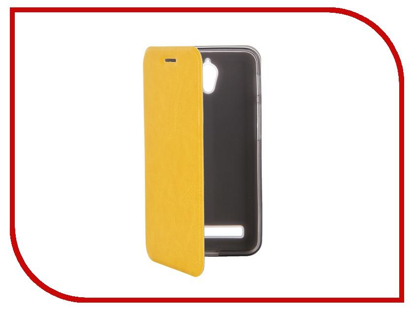Аксессуар Чехол ASUS ZenFone C ZC451CG SkinBox Lux Yellow T-S-AZC-003 аксессуар чехол накладка asus zenfone c zc451cg cherry red 8268