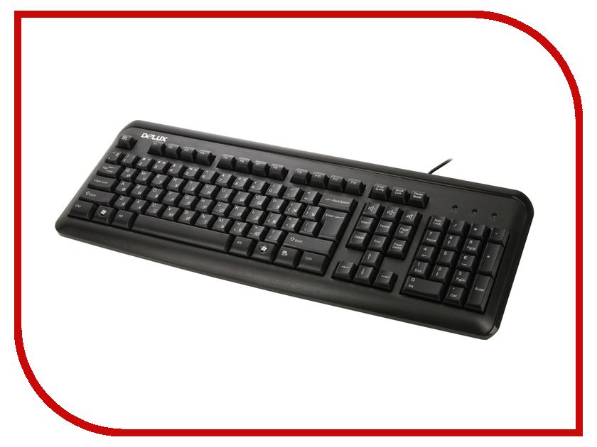 Клавиатура Delux DLK-8021 Black PS/2