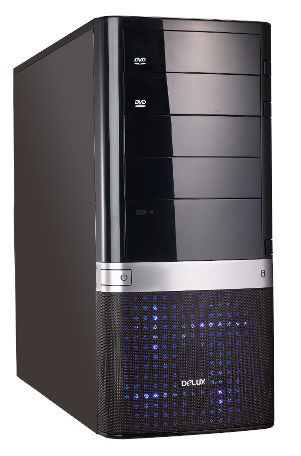 Корпус Delux Miditower DLC-MG858 Black<br>