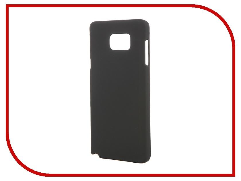 Аксессуар Чехол-накладка Samsung Galaxy Note 5 Pulsar Clipcase PC Soft-Touch Black PCC0121<br>