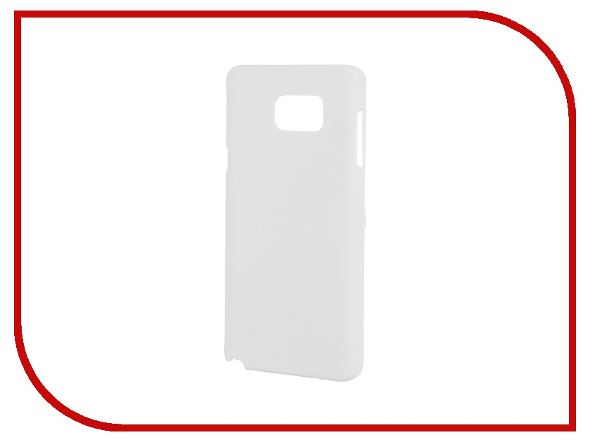 Аксессуар Чехол-накладка Samsung Galaxy Note 5 Pulsar Clipcase PC Soft-Touch White PCC0122