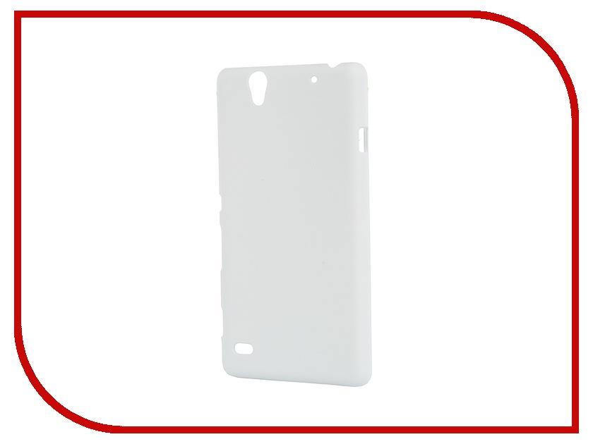 Аксессуар Чехол-накладка Sony Xperia C4 SkinBox 4People White T-S-SXC4-002 + защитная пленка<br>