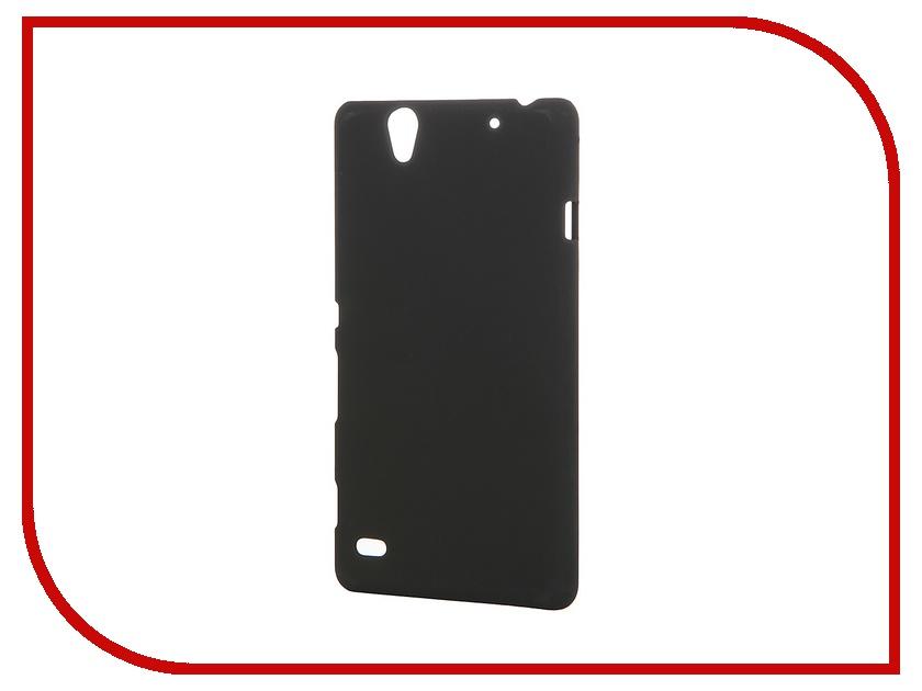 Аксессуар Чехол-накладка Sony Xperia C4 SkinBox 4People Black T-S-SXC4-002 + защитная пленка<br>