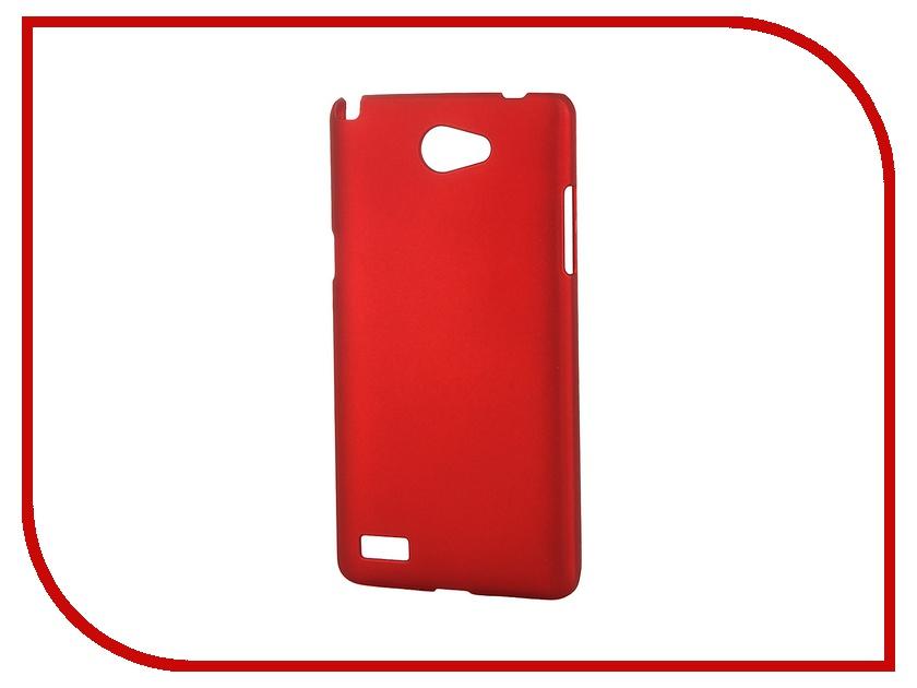 Аксессуар Чехол-накладка LG Max (L Bello 2) SkinBox 4People Red T-S-LLB2-002 + защитная пленка skinbox lux чехол для lg max l bello 2 brown