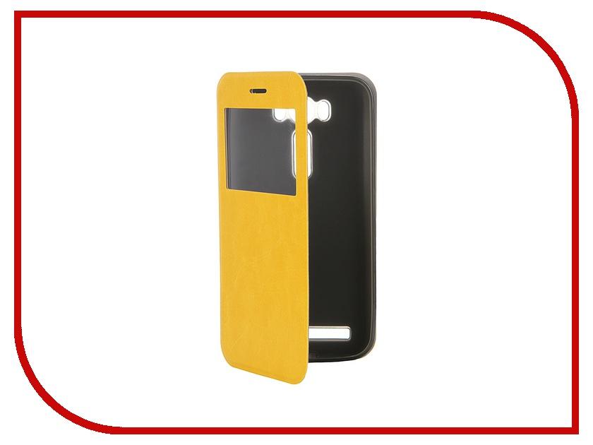 Аксессуар Чехол ASUS ZenFone Laser 2 ZE500KL/ZE500KG SkinBox Lux AW Yellow T-S-AZL2-003<br>