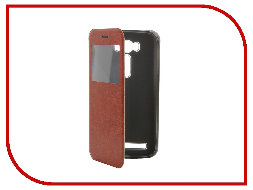 Аксессуар Чехол ASUS ZenFone Laser 2 ZE500KL/ZE500KG SkinBox Lux AW Brown T-S-AZL2-003<br>