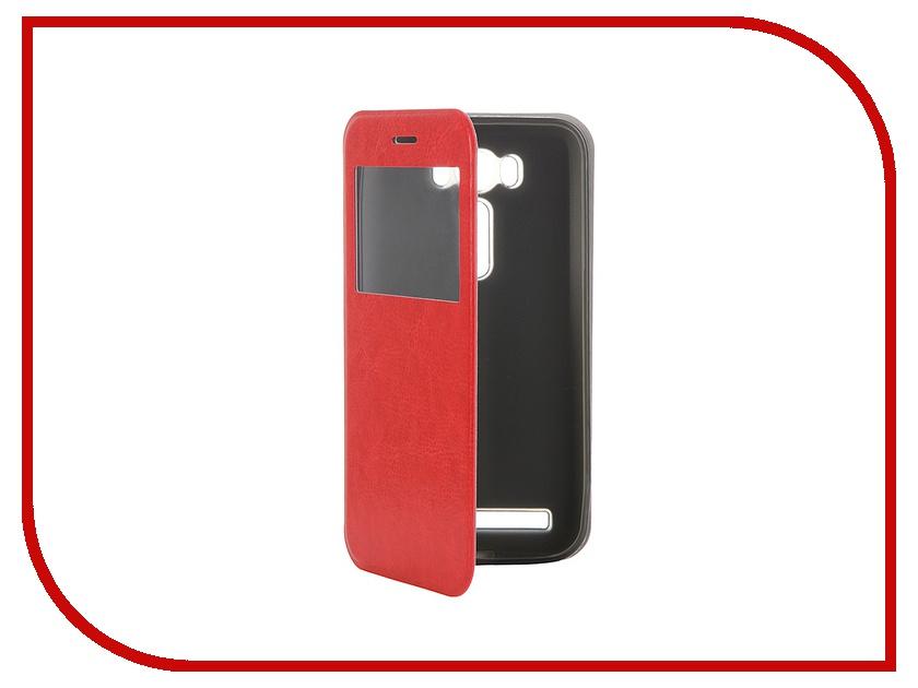 Аксессуар Чехол ASUS ZenFone Laser 2 ZE500KL/ZE500KG SkinBox Lux AW Red T-S-AZL2-003 ze500kl 1a435ru