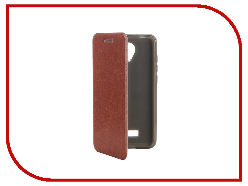 Аксессуар Чехол Micromax Canvas Spark Q380 SkinBox Lux Brown T-S-MCSQ380-003<br>