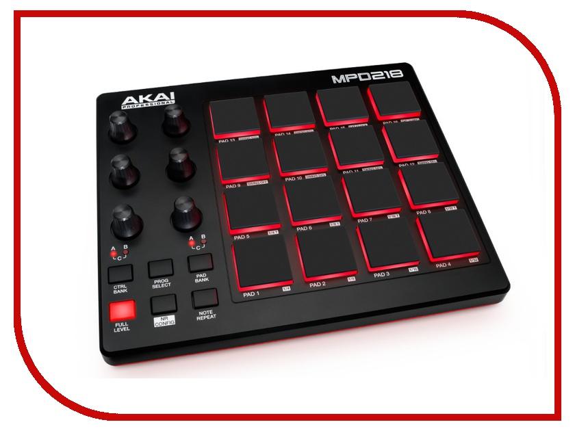MIDI-контроллер AKAI pro MPD218 akai professional mpc studio black