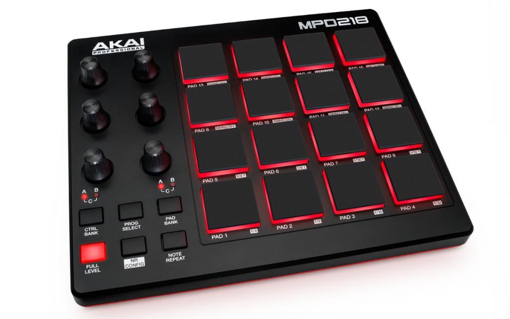 MIDI-контроллер AKAI pro MPD218