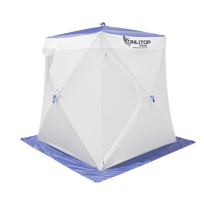 Палатка Onlitop Призма 150 Стандарт В95Т1 White-Blue 1176213 от Pleer