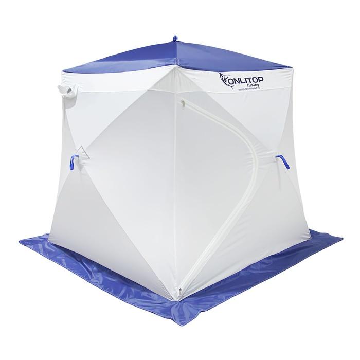Палатка Onlitop Призма 170 Стандарт В95Т1 White-Blue 1176217 от Pleer